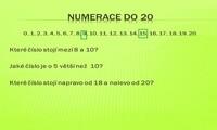 Sčítání do 20 bez přechodu přes základ