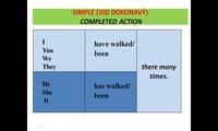 Present perfect (to talk about someone's experience) - affirmative, negative, question