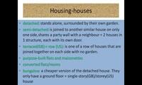 Houses, flats