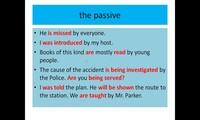 The passive - present and past