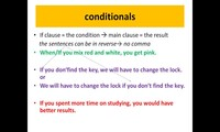 First and Second conditionals