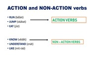 Action and non-action verbs