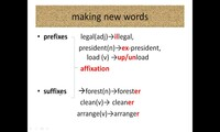 Skills and people (suffixes)