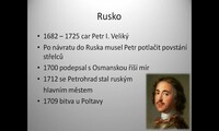 Evropské státy v 18. stol. - Rusko, Prusko, Polsko