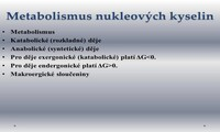 Metabolismus nukleových kyselin