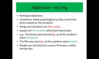 Adjectives ending with -ed / - ing (grammar)