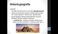 Historie geografie