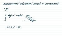 Alkyny a cykloalkyny  - názvosloví