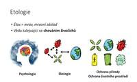 Etologie - co je to etologie