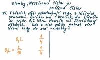 Zlomky, desetinná čísla a smíšená čísla