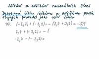 Sčítání a odčítání racionálních čísel