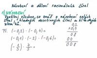 Násobení a dělení racionálních čísel
