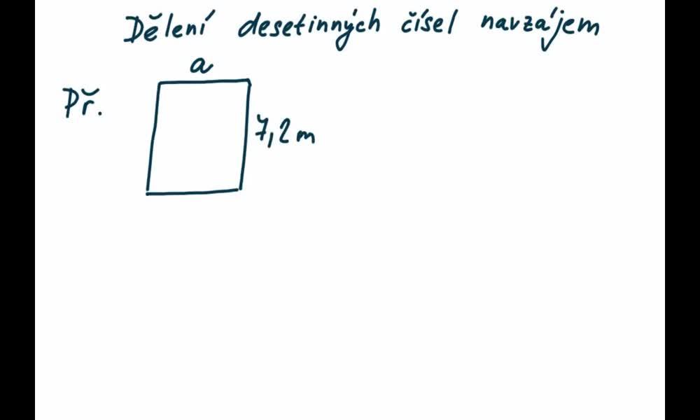 1. náhled výukového kurzu Dělení desetinných čísel navzájem