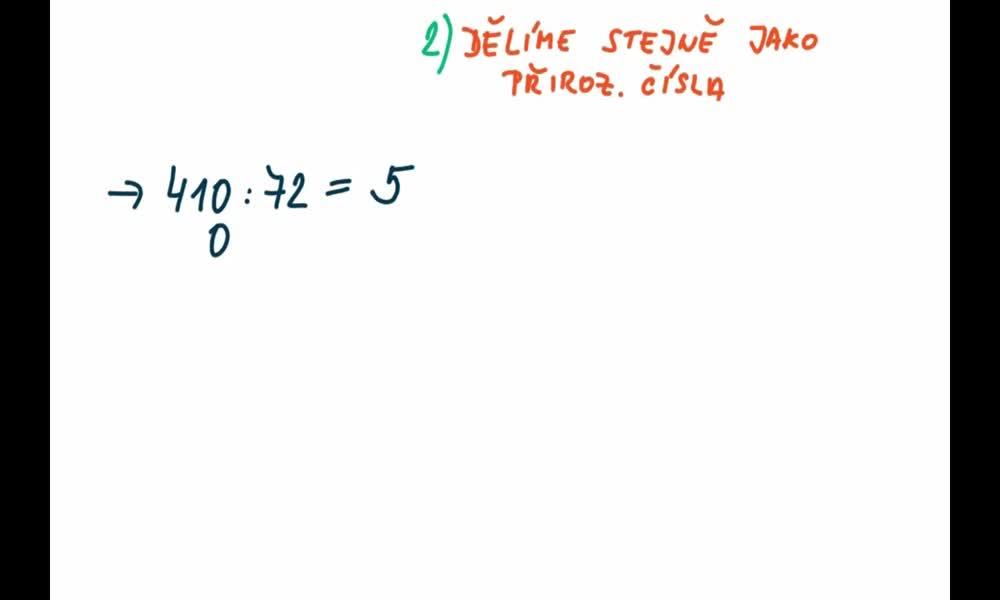6. náhled výukového kurzu Dělení desetinných čísel navzájem