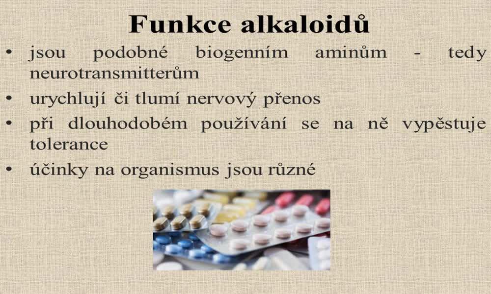 4. náhled výukového kurzu Alkaloidy
