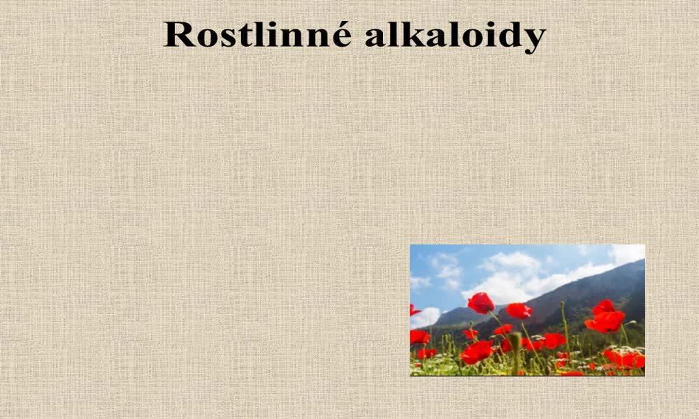5. náhled výukového kurzu Alkaloidy