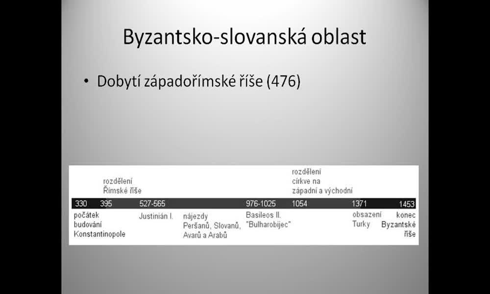 1. náhled výukového kurzu Byzantsko-slovanská oblast