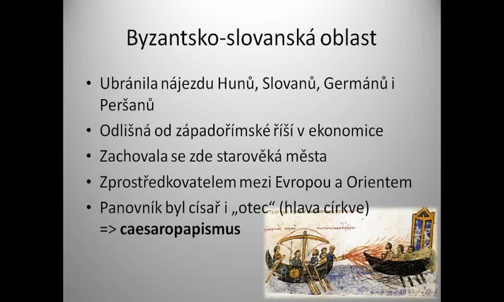 2. náhled výukového kurzu Byzantsko-slovanská oblast