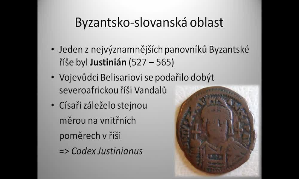 3. náhled výukového kurzu Byzantsko-slovanská oblast