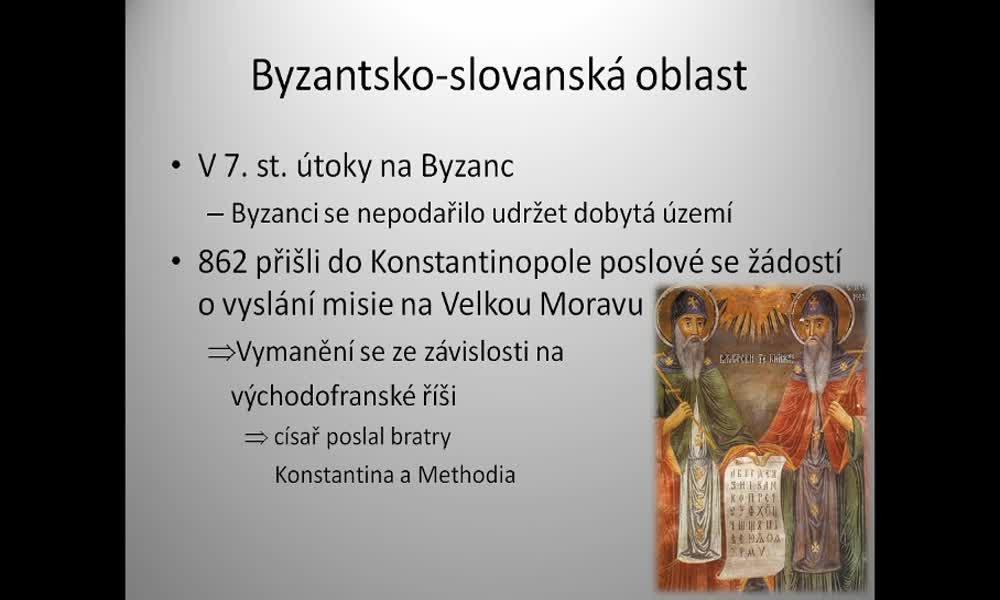 4. náhled výukového kurzu Byzantsko-slovanská oblast