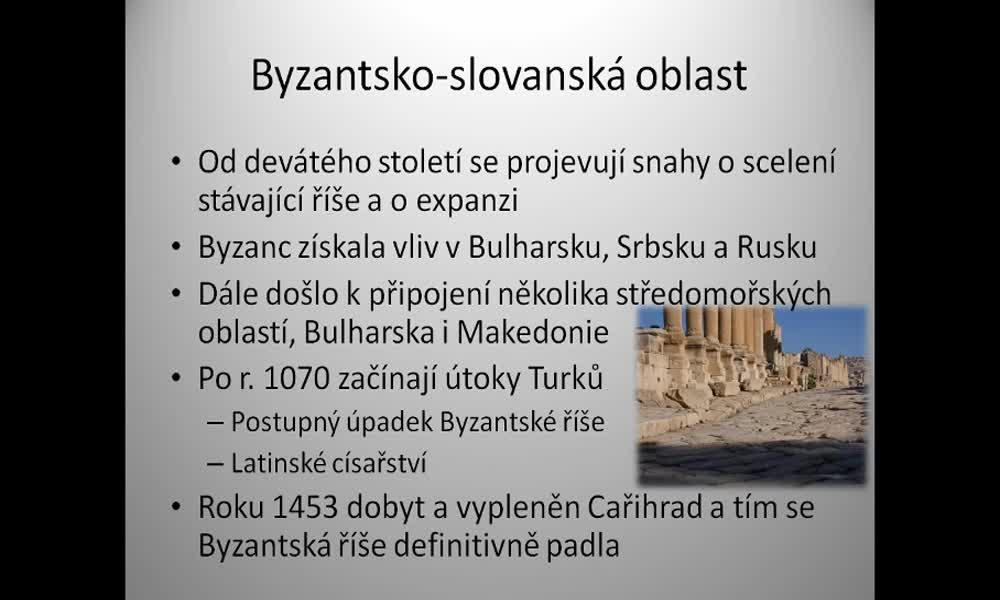 6. náhled výukového kurzu Byzantsko-slovanská oblast