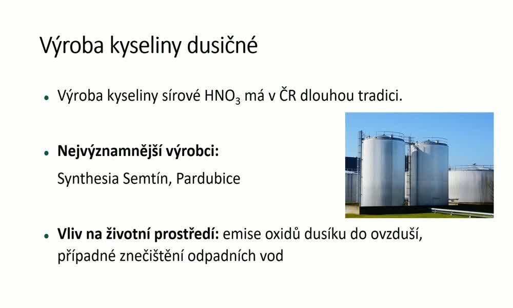 4. náhled výukového kurzu Chemická výroba - vybrané chemické výrobky
