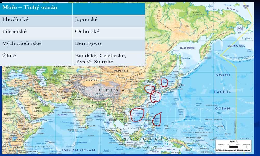 5. náhled výukového kurzu Asie - vodstvo