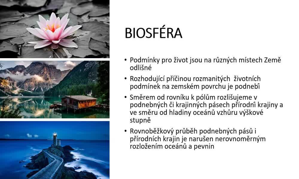 3. náhled výukového kurzu Geobiomy