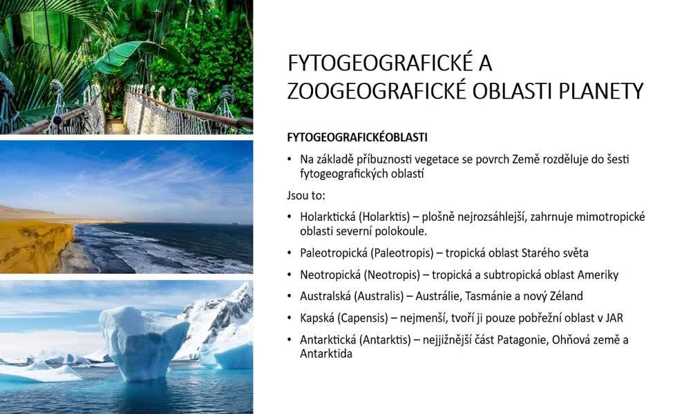 4. náhled výukového kurzu Geobiomy