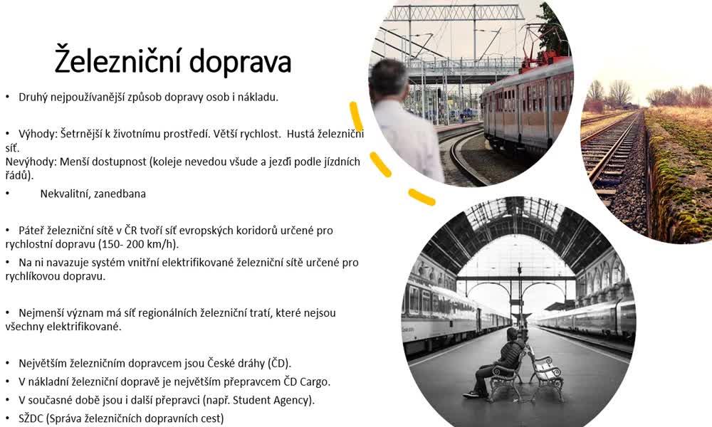 6. náhled výukového kurzu Doprava