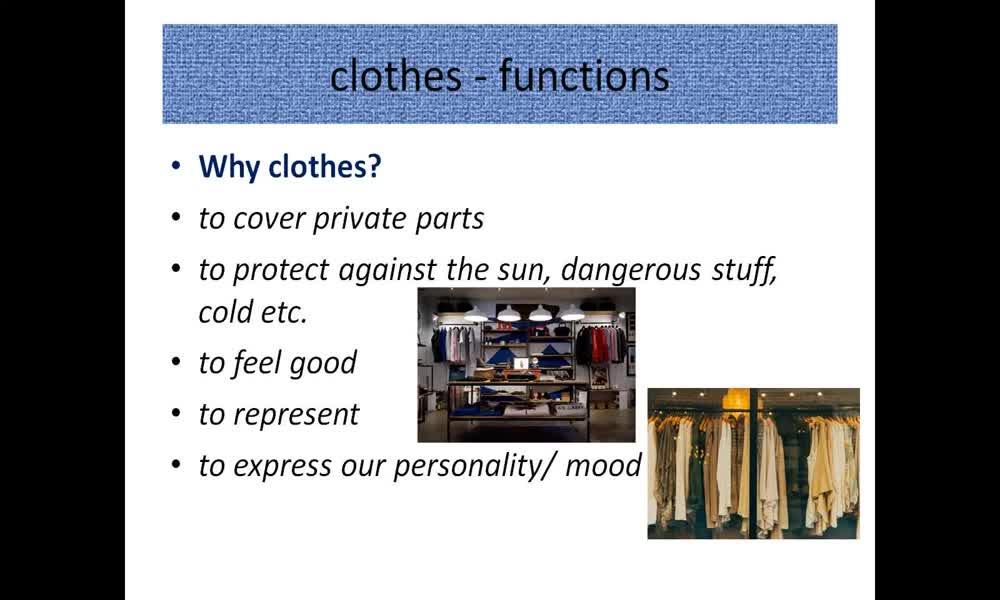 1. náhled výukového kurzu Clothes