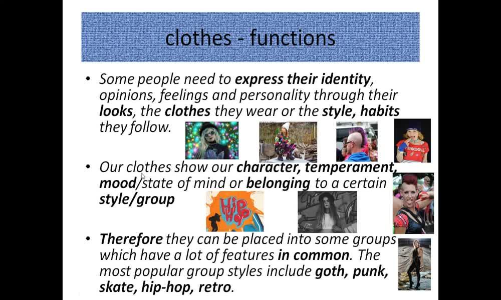 2. náhled výukového kurzu Clothes