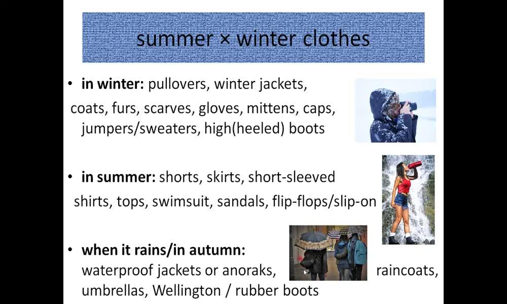 5. náhled výukového kurzu Clothes
