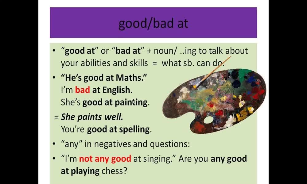 1. náhled výukového kurzu Adjectives: qualities
