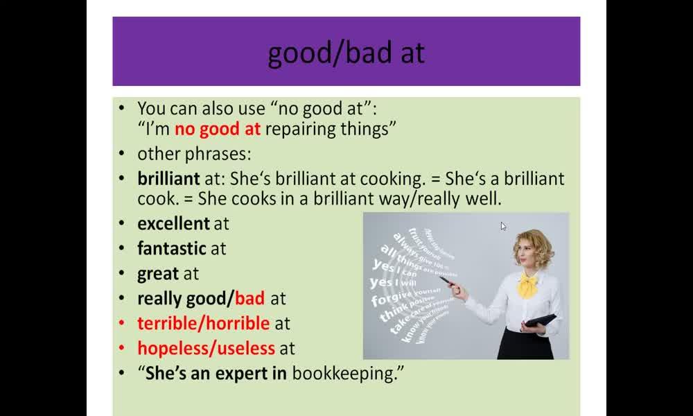2. náhled výukového kurzu Adjectives: qualities