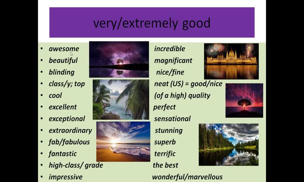 5. náhled výukového kurzu Adjectives: qualities