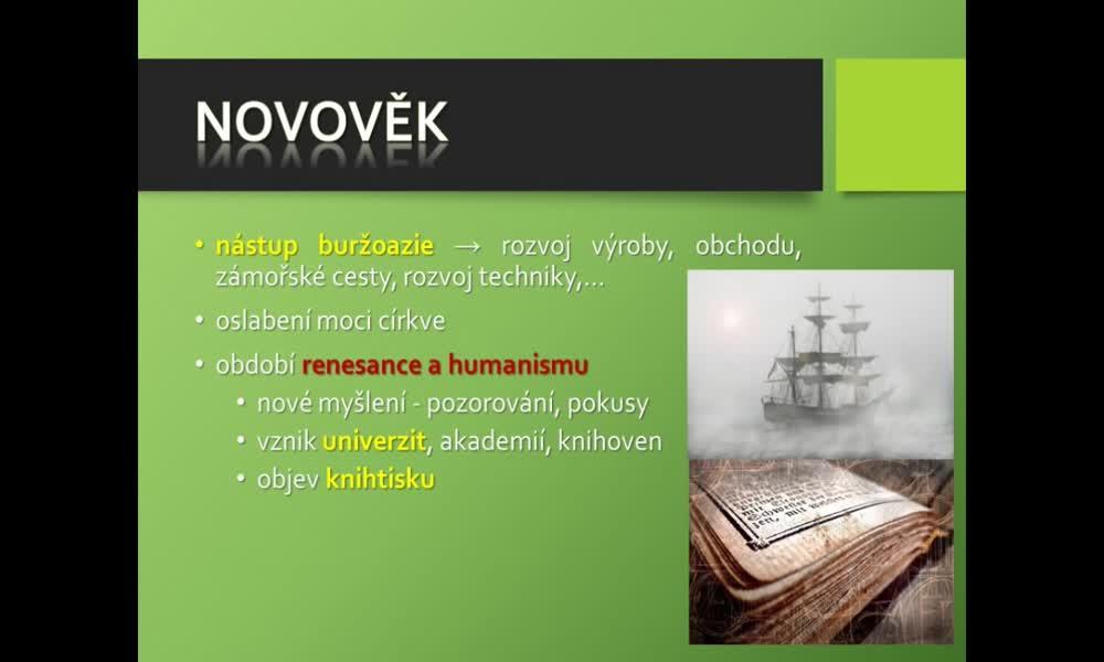 4. náhled výukového kurzu Dějiny biologie