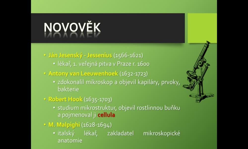 6. náhled výukového kurzu Dějiny biologie