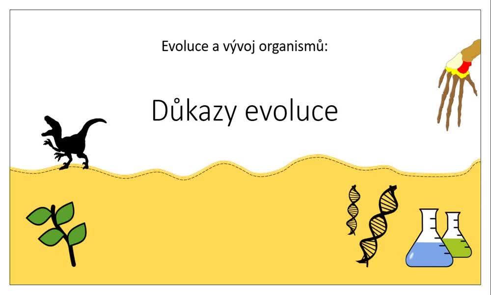 1. náhled výukového kurzu Důkazy evoluce