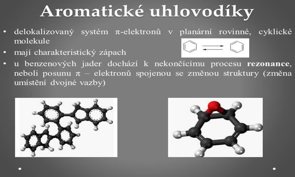 1. náhled výukového kurzu Aromatické uhlovodíky