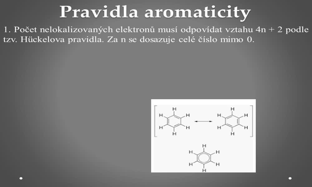 3. náhled výukového kurzu Aromatické uhlovodíky