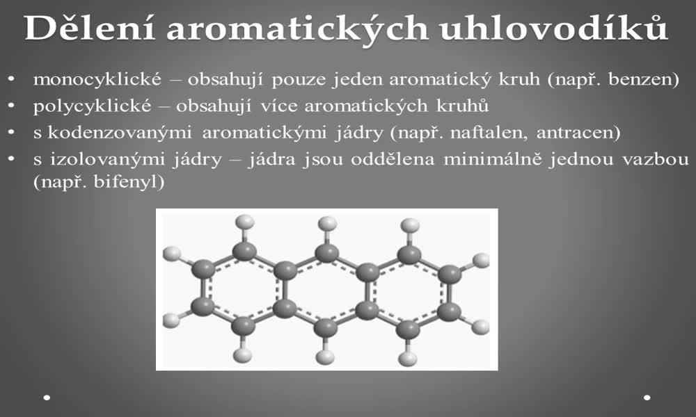 4. náhled výukového kurzu Aromatické uhlovodíky