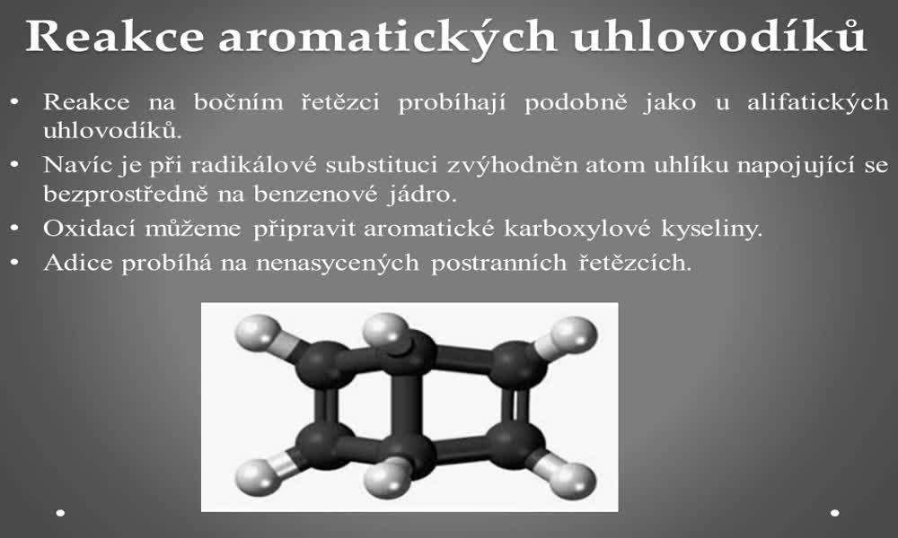 6. náhled výukového kurzu Aromatické uhlovodíky