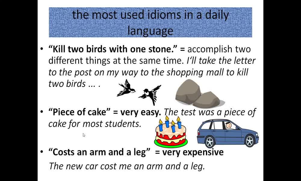 4. náhled výukového kurzu Collocation: word pairs