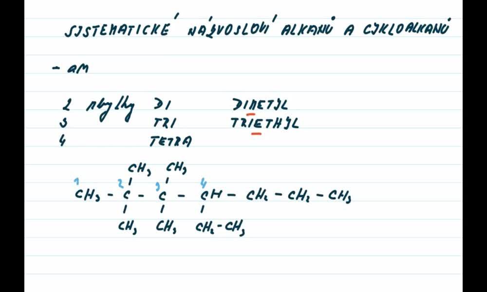 4. náhled výukového kurzu Alkany a cykloalkany - názvosloví