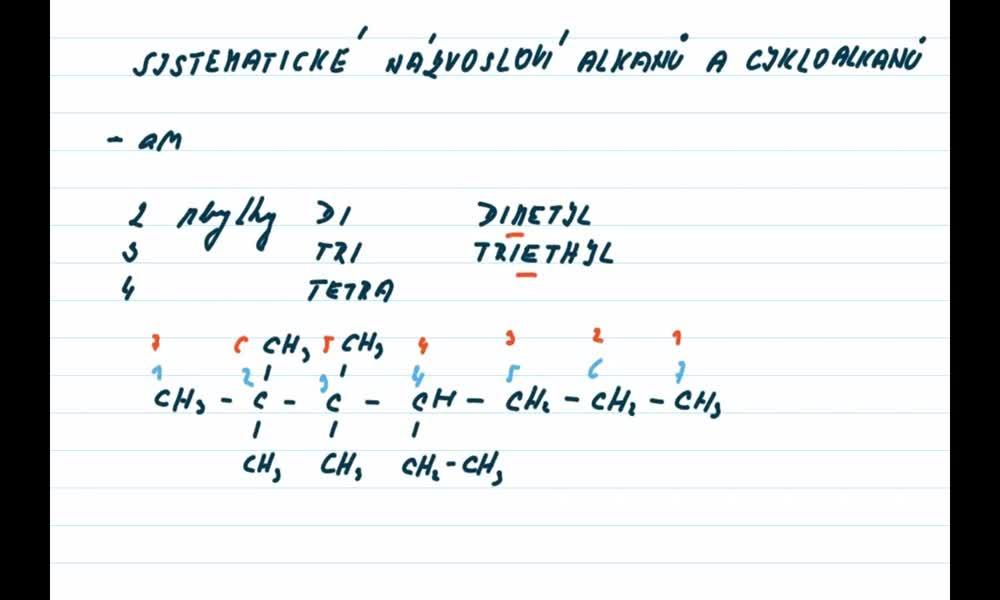 5. náhled výukového kurzu Alkany a cykloalkany - názvosloví