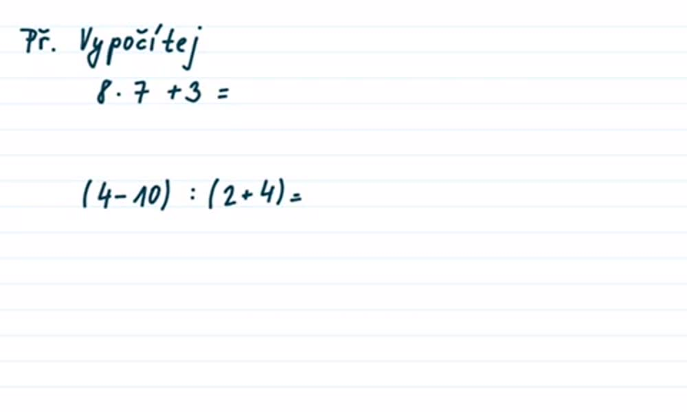 4. náhled výukového kurzu Číselný výraz a jeho hodnota