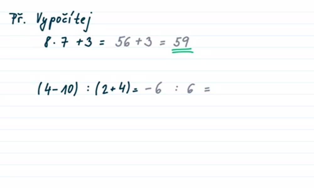 5. náhled výukového kurzu Číselný výraz a jeho hodnota
