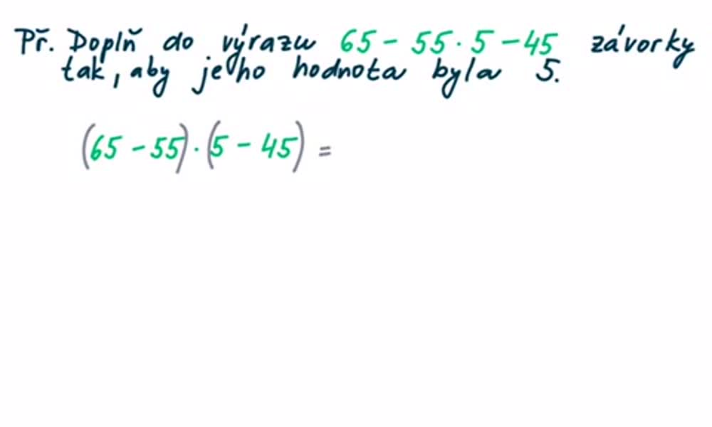6. náhled výukového kurzu Číselný výraz a jeho hodnota