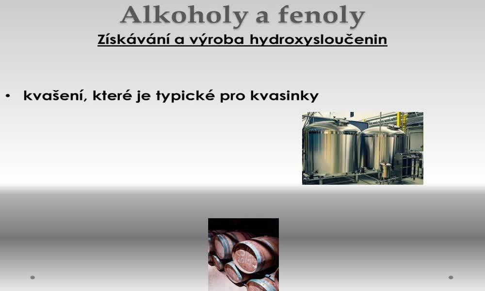 3. náhled výukového kurzu Alkoholy a fenoly